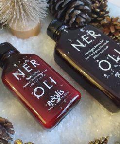 Πακέτο δώρου Shower gel για την Βαθιά Θρέψη της επιδερμίδας με Φύλλα Ελιάς Βιολογικής Καλλιέργειας & Νερολί, 250ml και Γαλάκτωμα Σώματος (body lotion) για την Βαθιά Θρέψη της επιδερμίδας με Φύλλα Ελιάς Βιολογικής Καλλιέργειας & Νερολί, 100ml