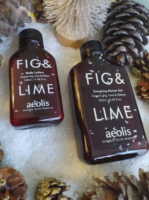 Πακέτο δώρου Shower gel για την Αμεση Αναζωογόνηση και Ενέργεια του σωματοσ με Βιολογικό Σύκο, Μοσχολέμονο (Lime) και Δίκταμο Κρήτης, 250 ML και Γαλάκτωμα Σώματος (body lotion) για την Αμεση Αναζωογόνηση και Ενέργεια ΤΟΥ ΣΩΜΑΤΟΣ με Βιολογικό Σύκο, Μοσχολέμονο (Lime) & Δίκταμο Κρήτης, 100 ML