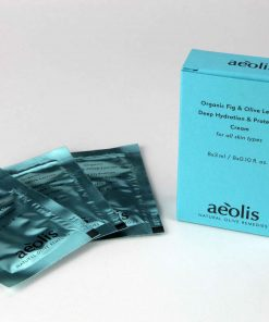Κρέμα προσώπου βαθιάς ενυδάτωση και προστασίας από τα πρώτα σημάδια γήρανσης, την ηλιακή ακτινοβολία και τους ερεθισμούς. Με Βιολογικό Σύκο & Βιολογικά Φύλλα Ελιάς 24ωρη - για όλους τους τύπους δέρματος σε πρακτική συσκευασία μονοδόσεων 8x3ml / 8x0.10 . oz.