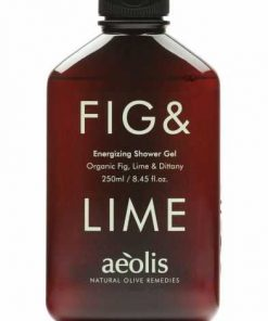 Shower gel για την Αμεση Αναζωογόνηση και Ενέργεια του σωματοσ με Βιολογικό Σύκο, Μοσχολέμονο (Lime) και Δίκταμο Κρήτης, 250 ML