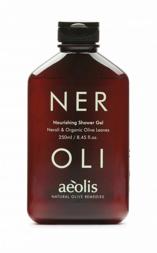 Shower gel για την Βαθιά Θρέψη της επιδερμίδας με Φύλλα Ελιάς Βιολογικής Καλλιέργειας & Νερολί, 250ml