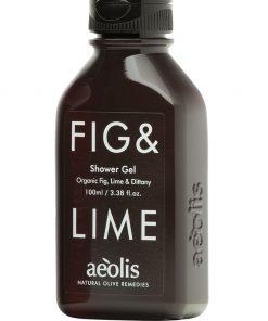 Shower gel για την Αμεση Αναζωογόνηση και Ενέργεια του σωματοσ με Βιολογικό Σύκο, Μοσχολέμονο (Lime) και Δίκταμο Κρήτης, 100 ML