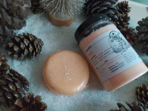 Πακέτο δώρου με Shampoo Bar AVOMANGO 85gr και Hair Conditioner, Hair mask or Leave in INDY 250ml