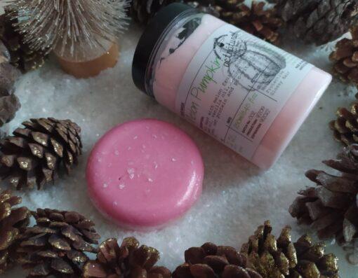 Πακέτο δώρου με Shampoo Bar WASPBERRY 85gr και Hair Conditioner, Hair mask or Leave in MELON PUMPKIN 250ml