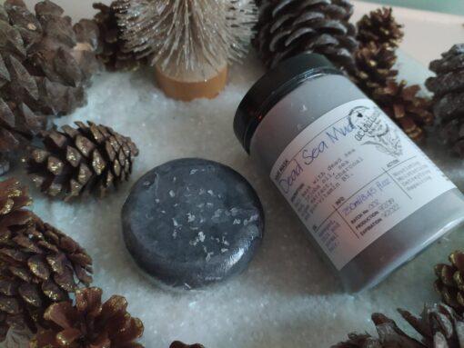 Πακέτο δώρου με Shampoo Bar BLACKBERRY 85gr Hair Conditioner, Hair mask or Leave in SEA MUD 250ml